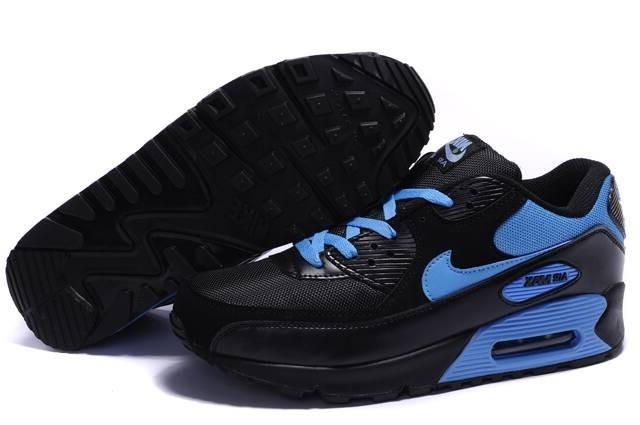 air max 90 essential noire et bleu