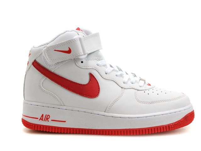 chaussure nike air force 1 femme blanche rouge